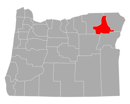Map of Union in Oregon