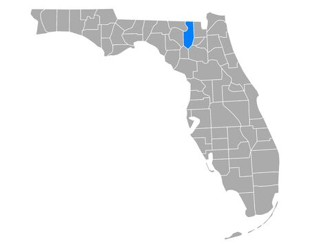 Map of Columbia in Florida Illustration