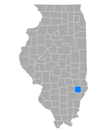 Map of Richland in Illinois