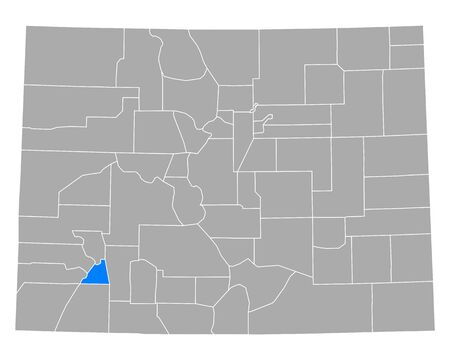 Map of San Juan in Colorado
