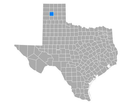 Map of Potter in Texas Иллюстрация