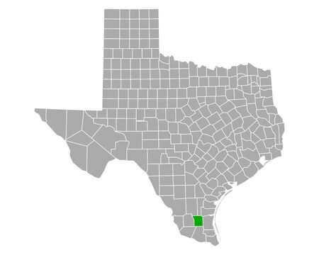 Map of Brooks in Texas
