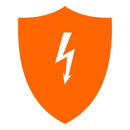 Lightning and shield Illustration