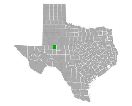 Map of Glasscock in Texas Vetores