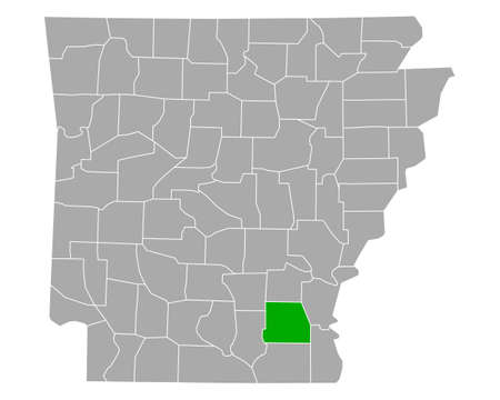 Map of Drew in Arkansas
