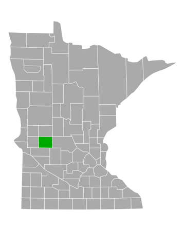 Map of Pope in Minnesota