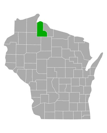 Map of Ashland in Wisconsin