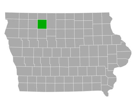 Map of Palo Alto in Iowa