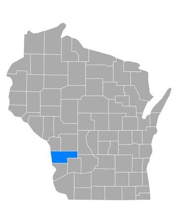 Map of Vernon in Wisconsin