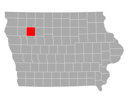 Map of Buena Vista in Iowa
