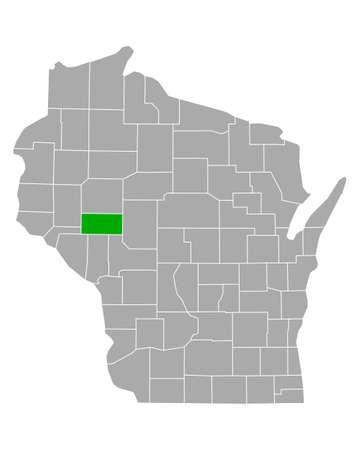Map of Eau Claire in Wisconsin Vecteurs