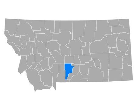 Map of Sweet Grass in Montana