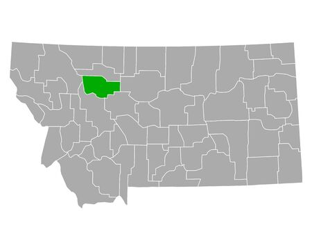 Map of Teton in Montana