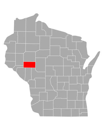 Map of Eau Claire in Wisconsin