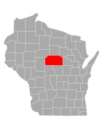 Map of Marathon in Wisconsin