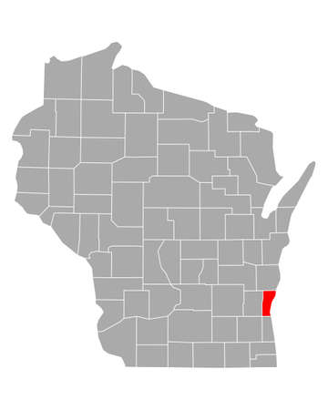Map of Ozaukee in Wisconsin
