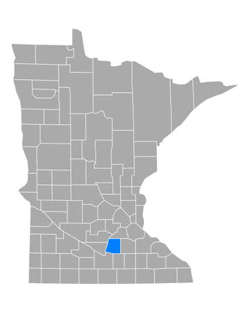 Map of Le Sueur in Minnesota