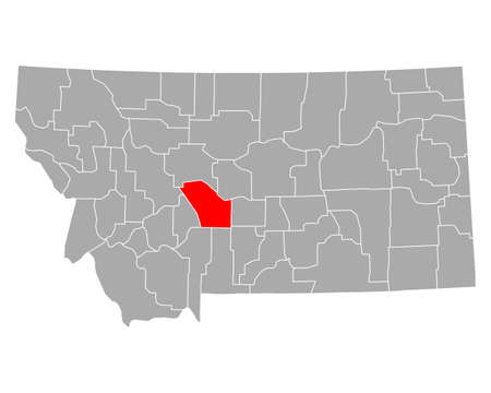 Map of Meagher in Montana