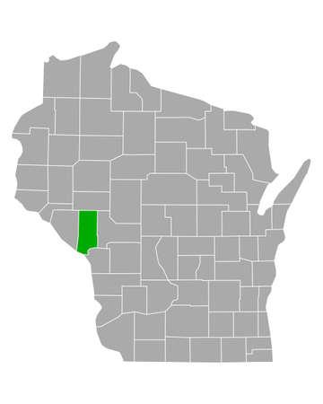 Map of Trempealeau in Wisconsin Иллюстрация