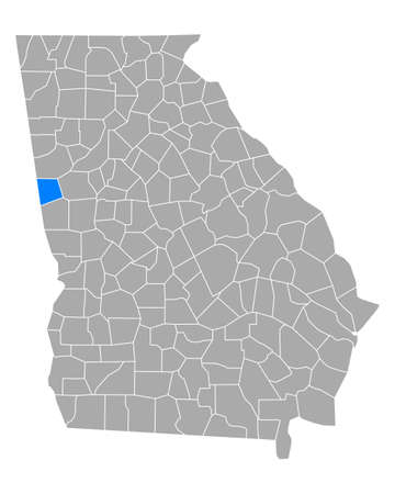 Map of Heard in Georgia