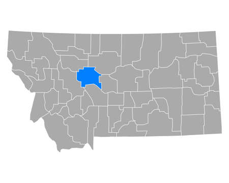 Map of Cascade in Montana