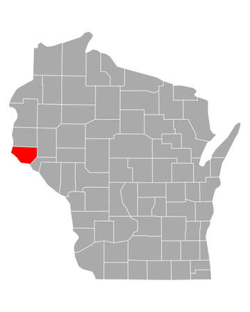 Map of Pierce in Wisconsin