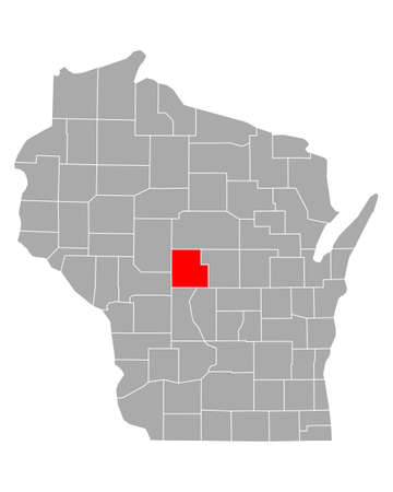 Map of Wood in Wisconsin