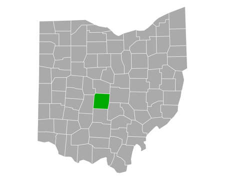 Map of Franklin in Ohio