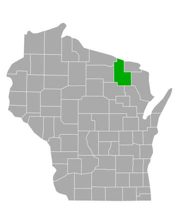 Map of Forest in Wisconsin