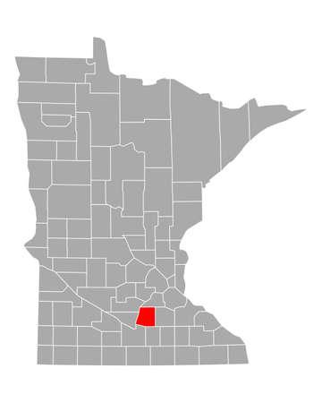 Map of Le Sueur in Minnesota Vecteurs