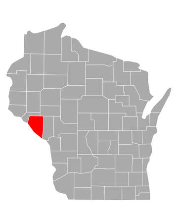 Map of Buffalo in Wisconsin