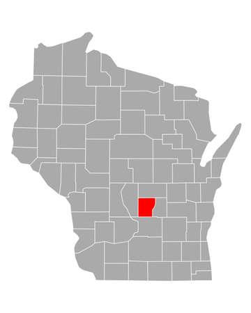 Map of Marquette in Wisconsin Иллюстрация