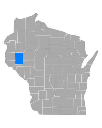 Map of Dunn in Wisconsin