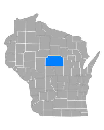 Map of Marathon in Wisconsin