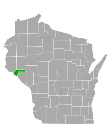 Map of Pepin in Wisconsin