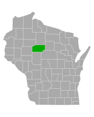 Map of Taylor in Wisconsin  イラスト・ベクター素材