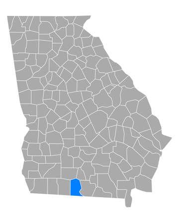 Map of Brooks in Georgia