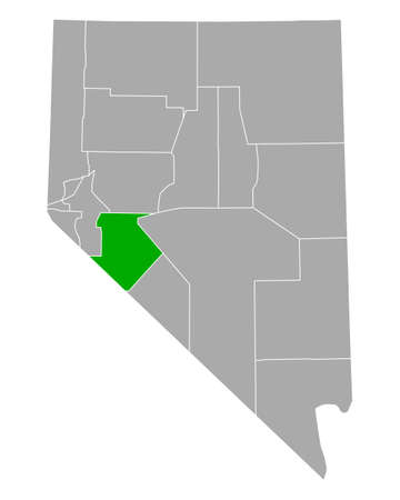 Map of Mineral in Nevada