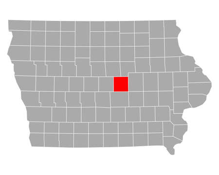 Map of Marshall in Iowa