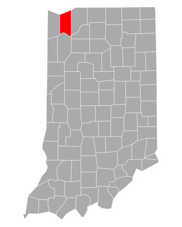 Map of Porter in Indiana
