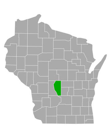 Map of Adams in Wisconsin