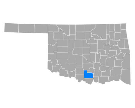 Map of Carter in Oklahoma