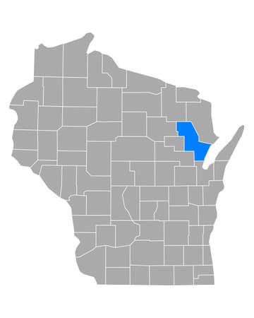 Map of Oconto in Wisconsin