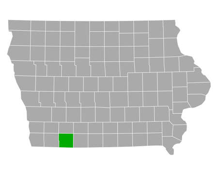 Map of Taylor in Iowa  イラスト・ベクター素材