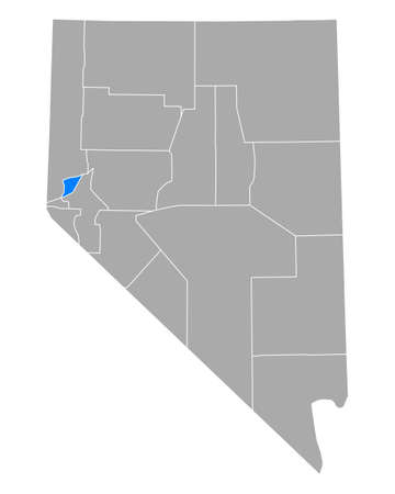 Map of Storey in Nevada