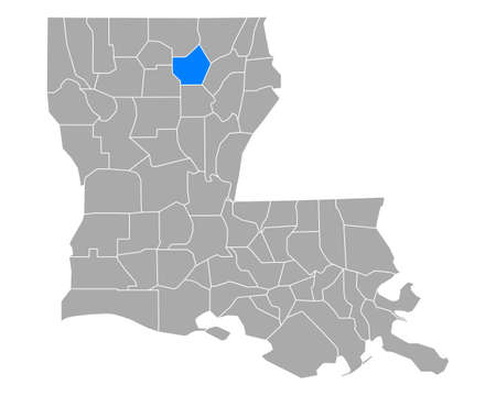 Map of Ouachita in Louisiana