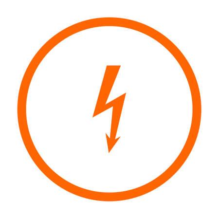 Lightning and circle Illustration