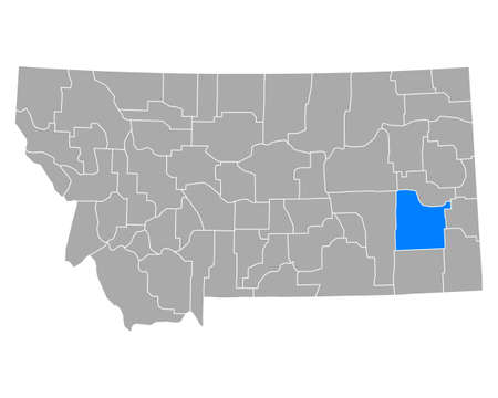 Map of Custer in Montana