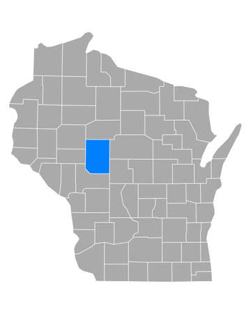 Map of Clark in Wisconsin