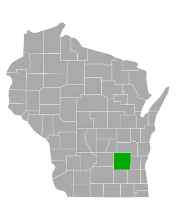 Map of Dodge in Wisconsin